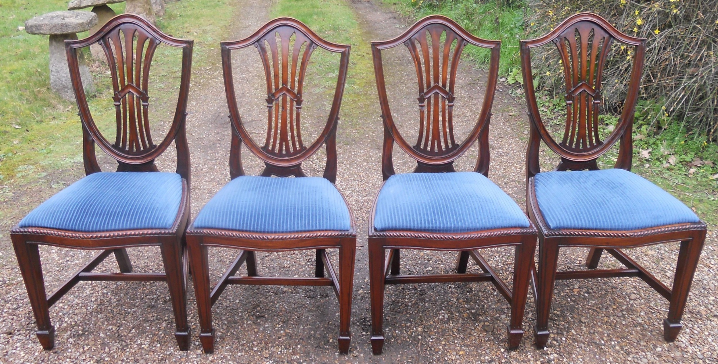 set of four mahogany dining chairs