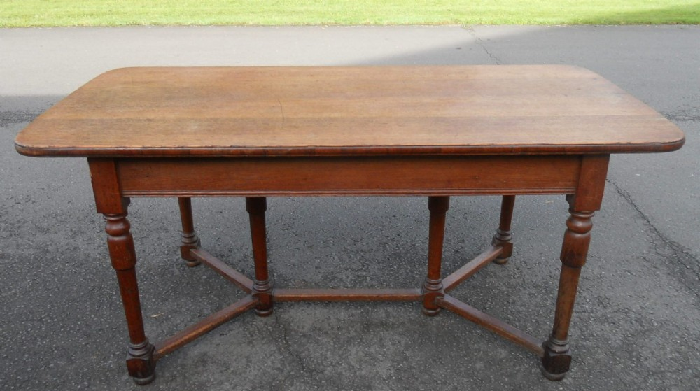 English Oak Refectory Dining Table 370394
