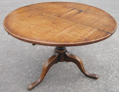 Georgian Oak Round Tripod Coffee Table 210395