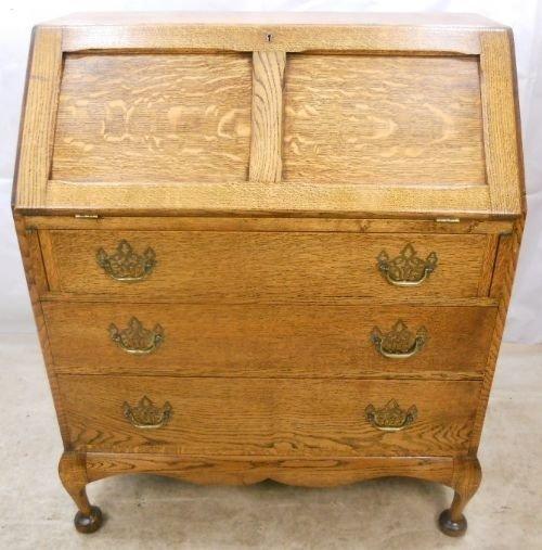 jacobean style light oak writing bureau 95289. Black Bedroom Furniture Sets. Home Design Ideas