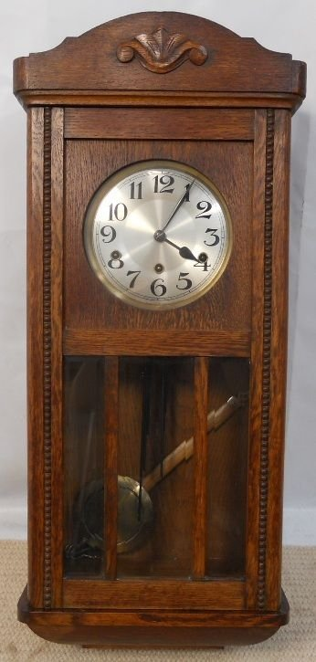 Oak Case Westminster Chime Hanging Wall Clock 170034