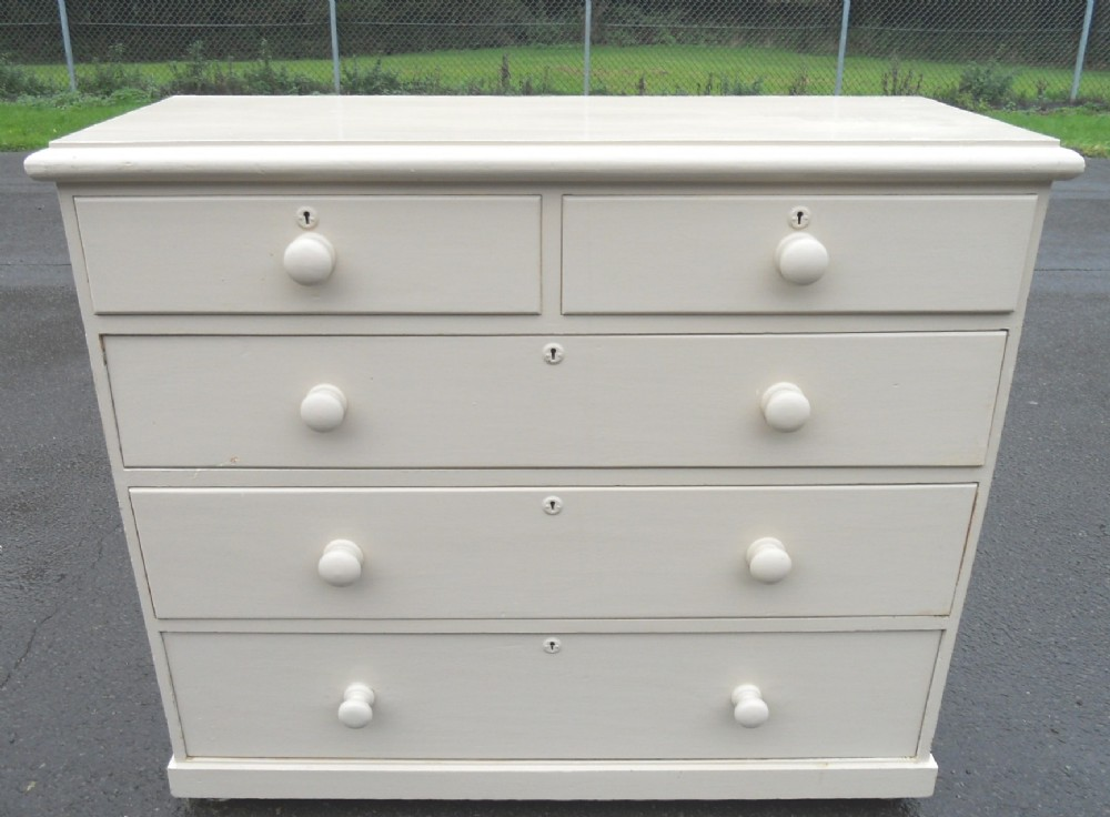 Pine Chest Of Drawers ~ Victorian painted pine chest of drawers