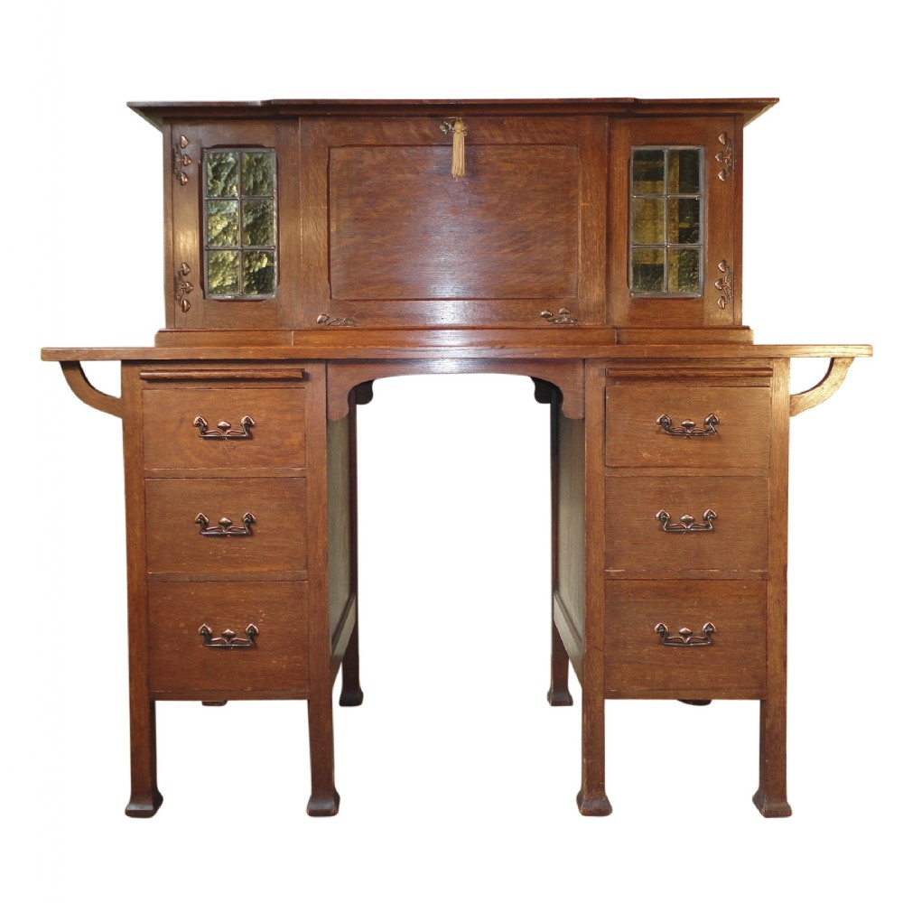 Arts and crafts desks - Arts Crafts Oak Writing Desk Possibly By Maples