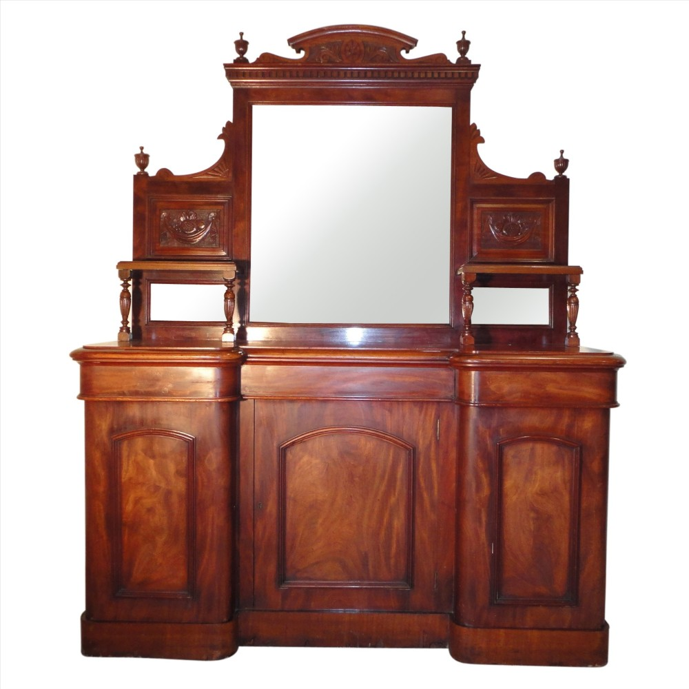 victorian sideboard with mirror mahogany mirror back sideboard 242173 6770