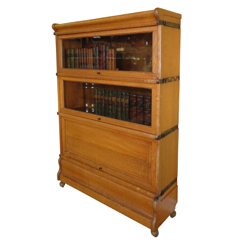 oak globewernicke stacking bookcase