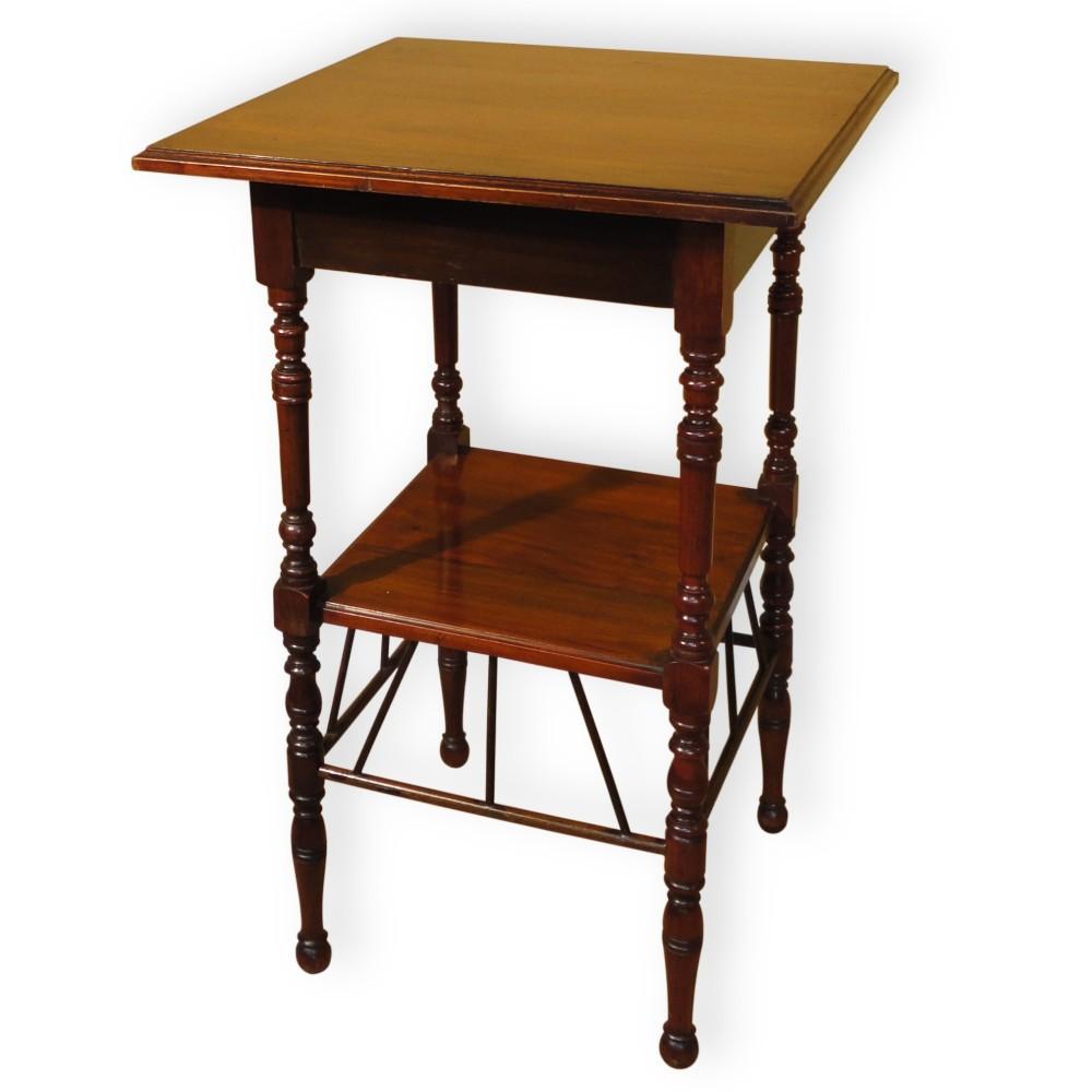 Antique square side table - E W Godwin Style Aesthetic Square Side Table Antique Photo