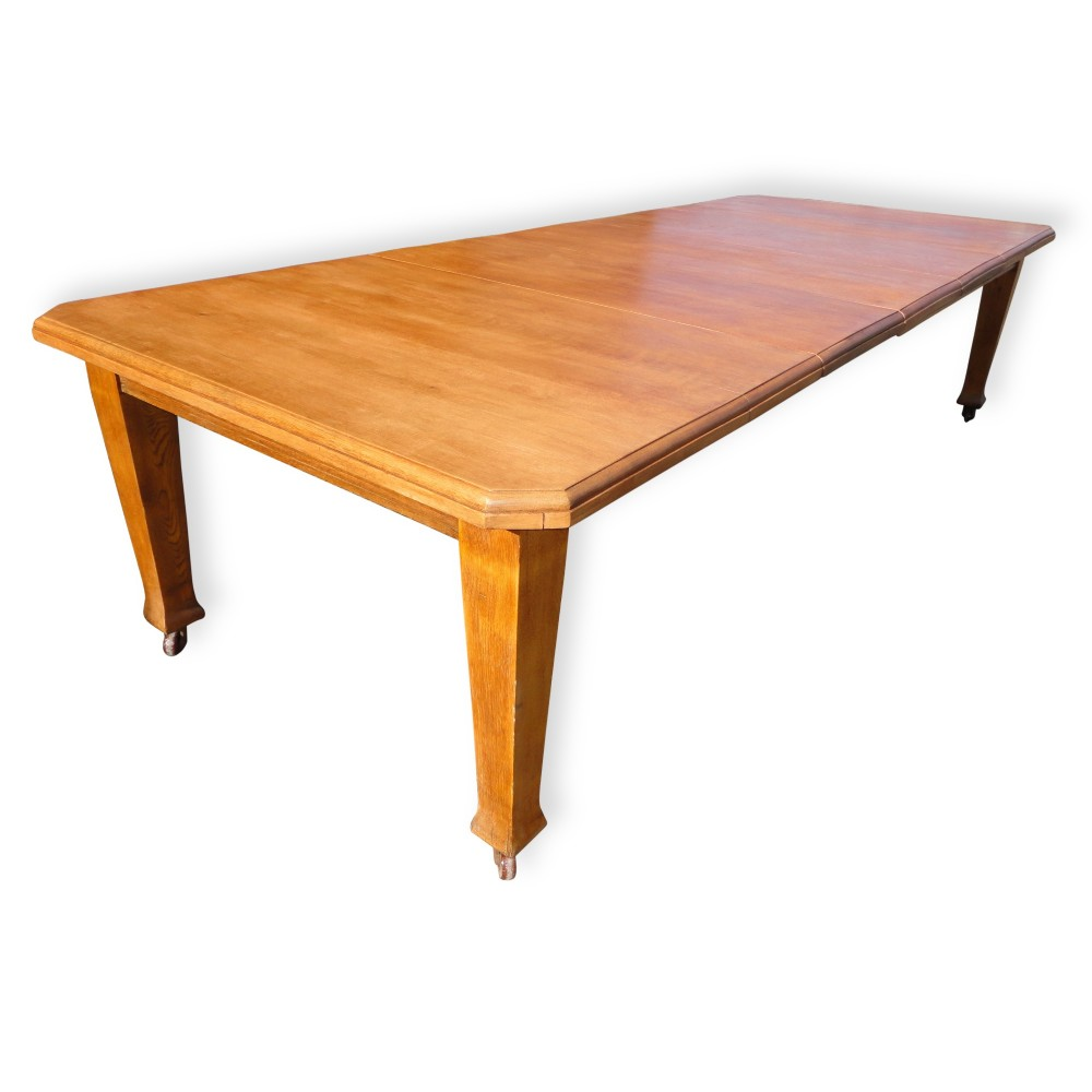 10ft antique arts crafts oak extending dining table to for 12 seater dining table uk
