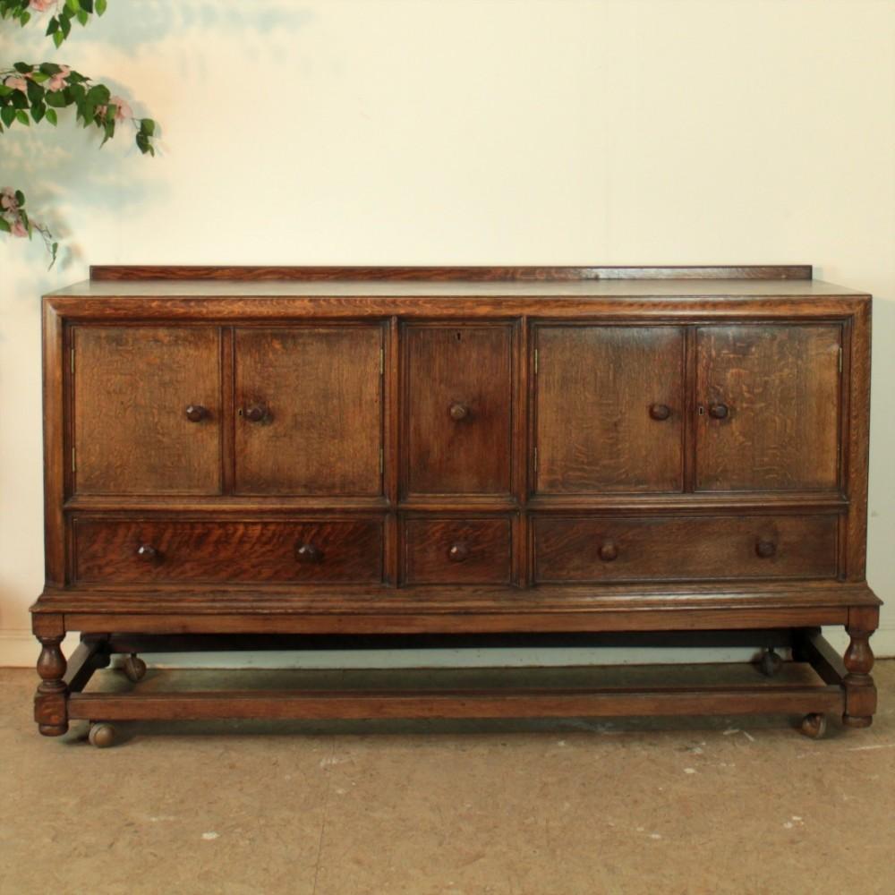 Antique arts and crafts furniture - Arts Crafts Oak Heals Sideboard Antique Photo