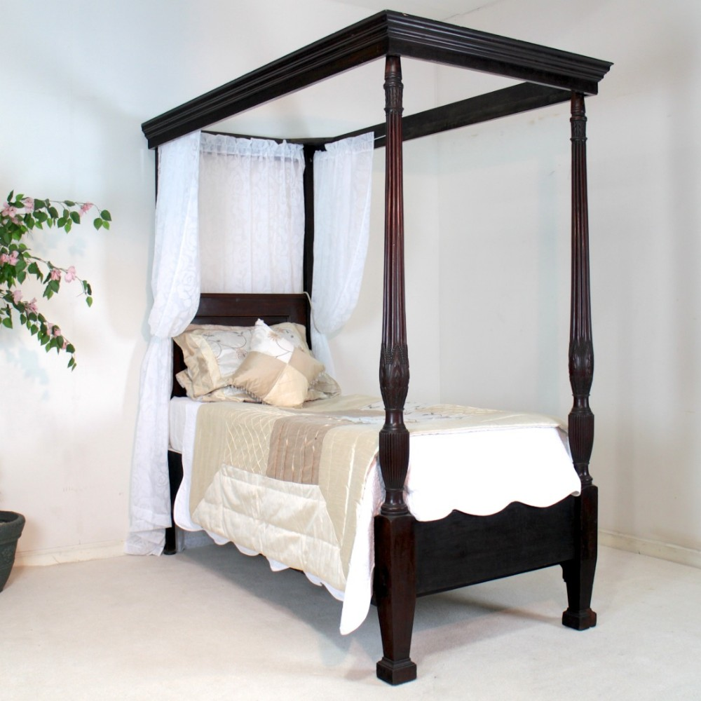 Victorian mahogany single four poster bed 432448 for Furniture group