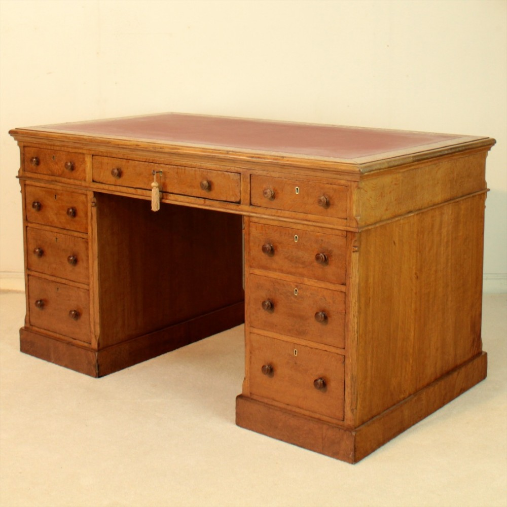 Victorian Gillows Oak Partners Pedestal Desk  472002. Apartment Size Kitchen Table. Table For Printer. Regulation Size Ping Pong Table. Agency Trading Desk. Blum Metabox Drawers. Round Computer Desk. Mother Falcon Tiny Desk. Dining Table Cheap