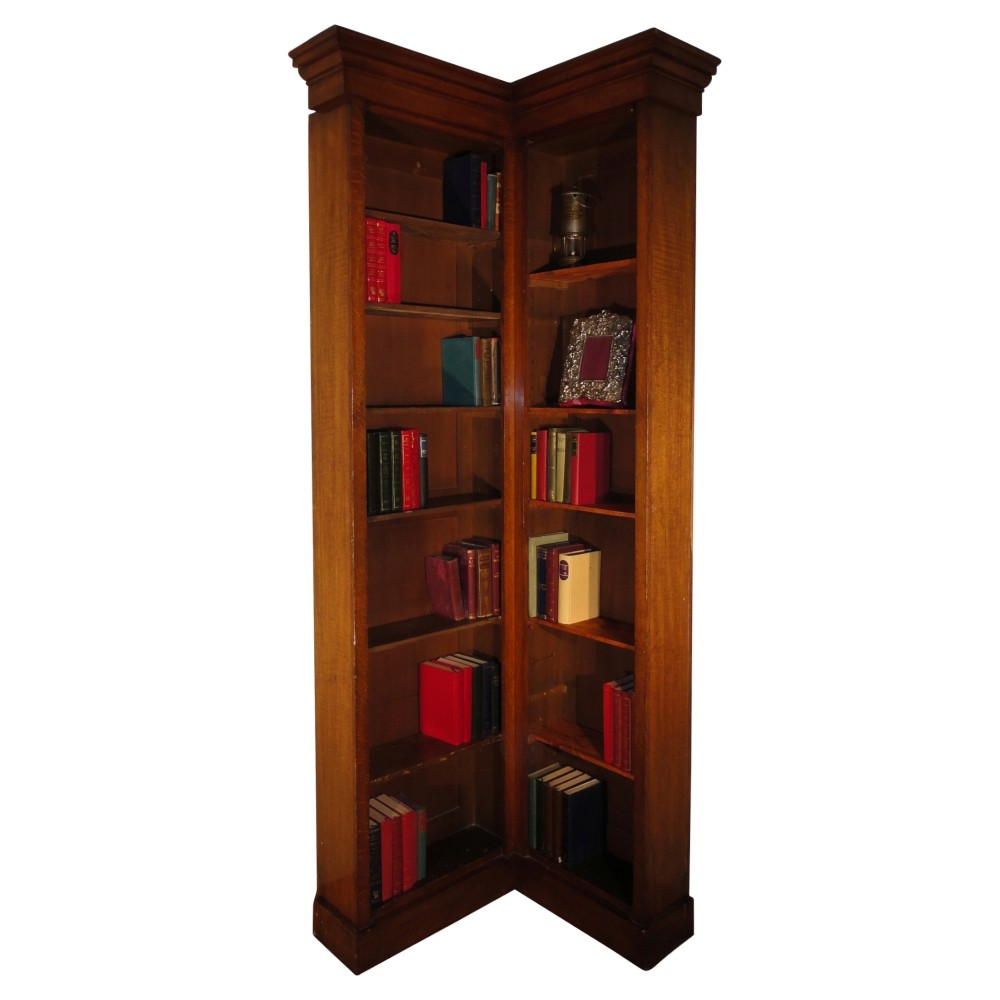 The Victorian oak narrow corner bookcase has been added to your saved ...