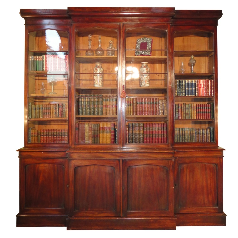 William Iv Mahogany Breakfront Bookcase 244736