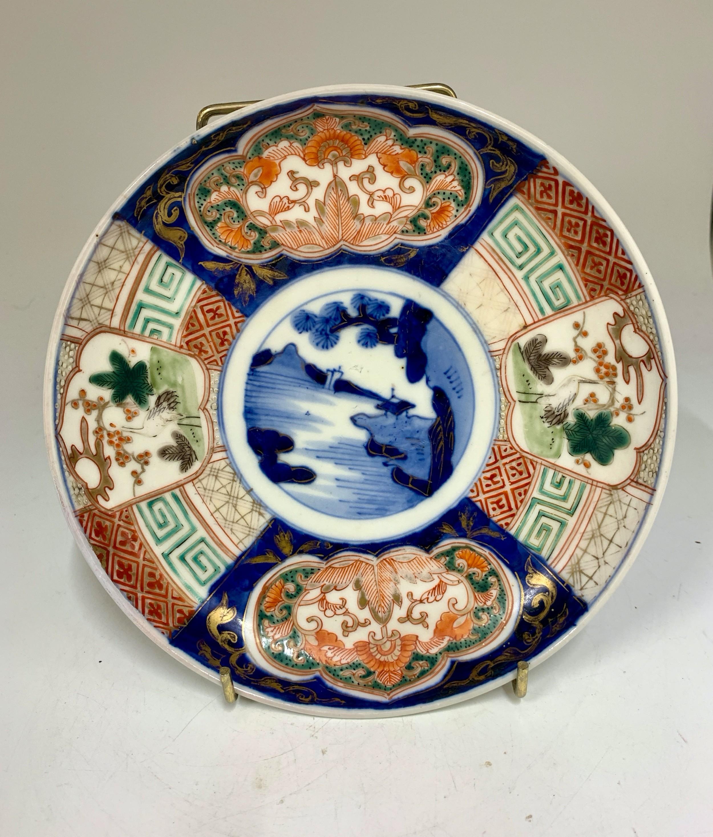antique oriental imari porcelain dish circa 1865
