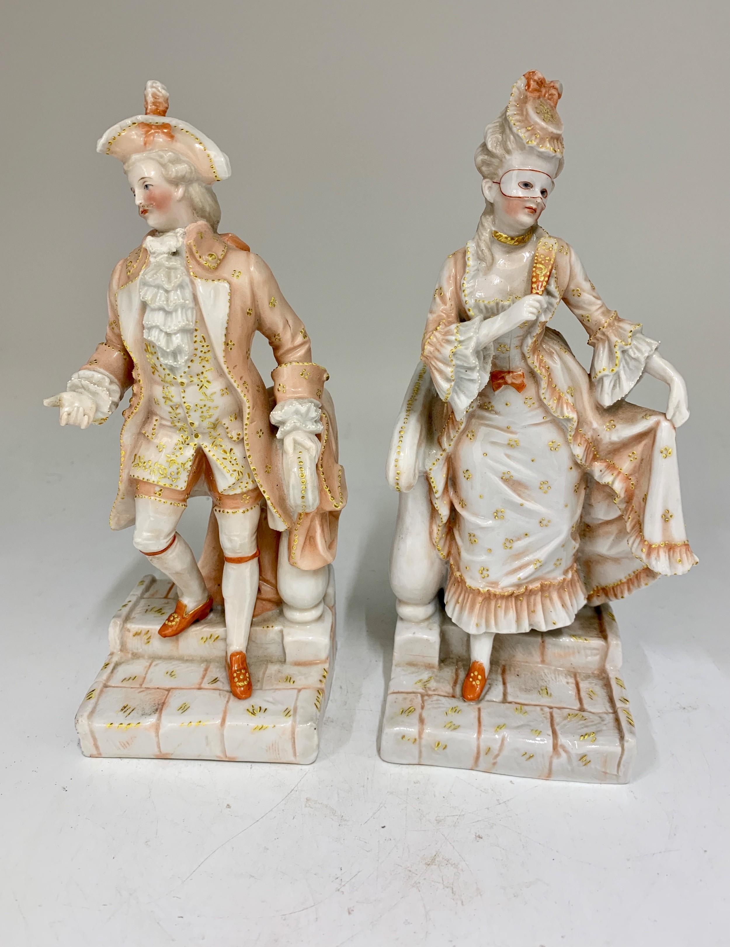 pair ernest bohne son porcelain figurines circa 1865