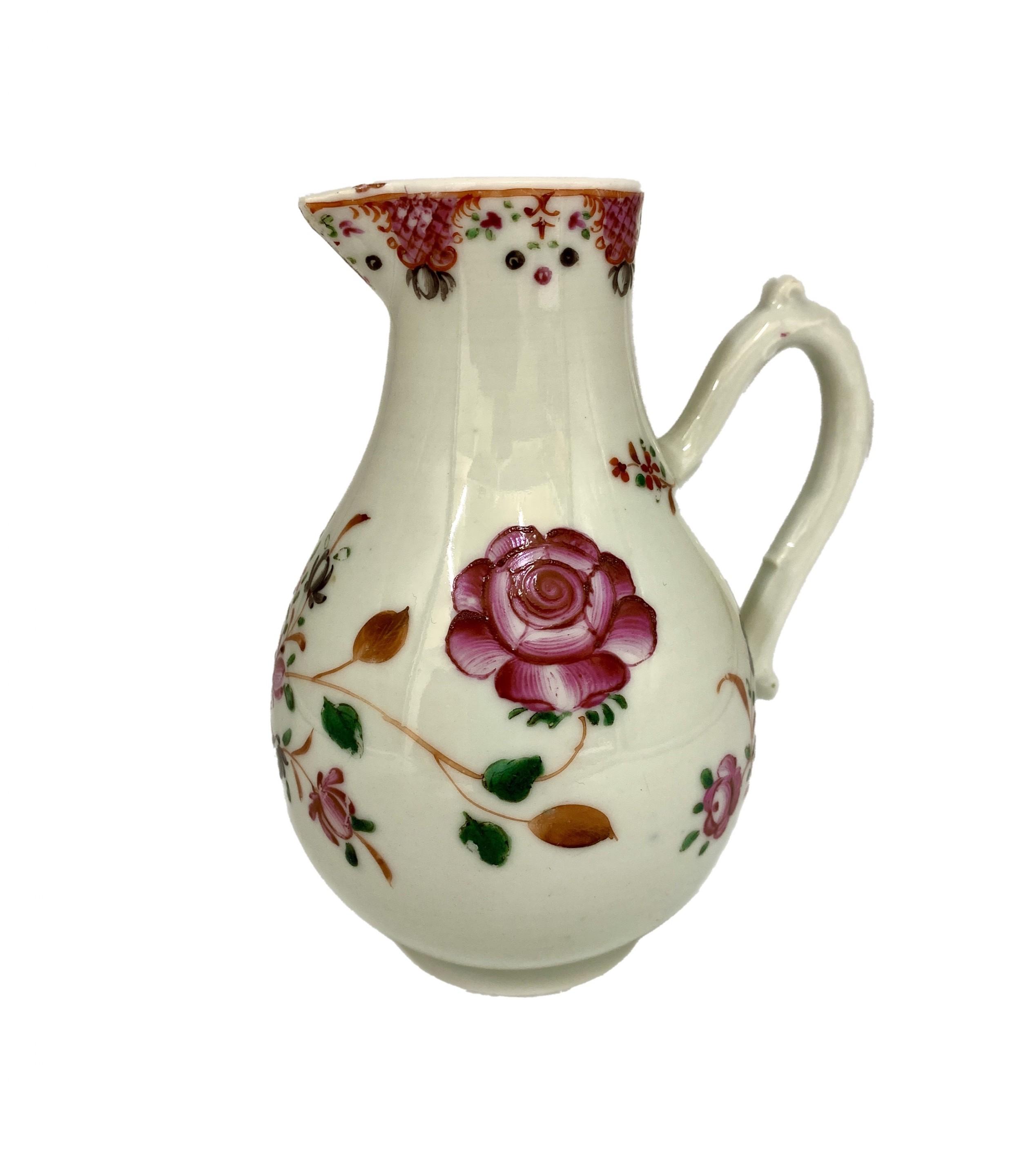 antique chinese export porcelain sparrow beak jug circa 1790