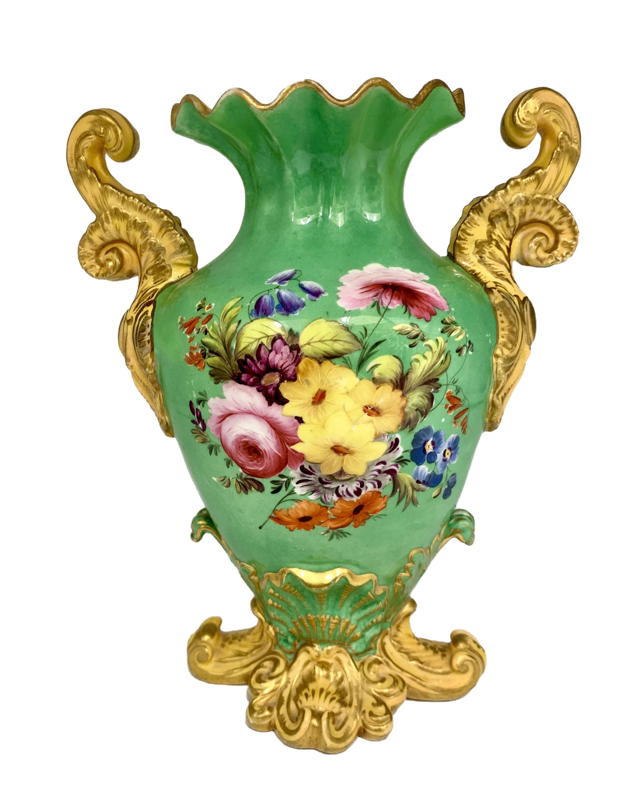19 th century coalport design porcelain vase circa 1830 50