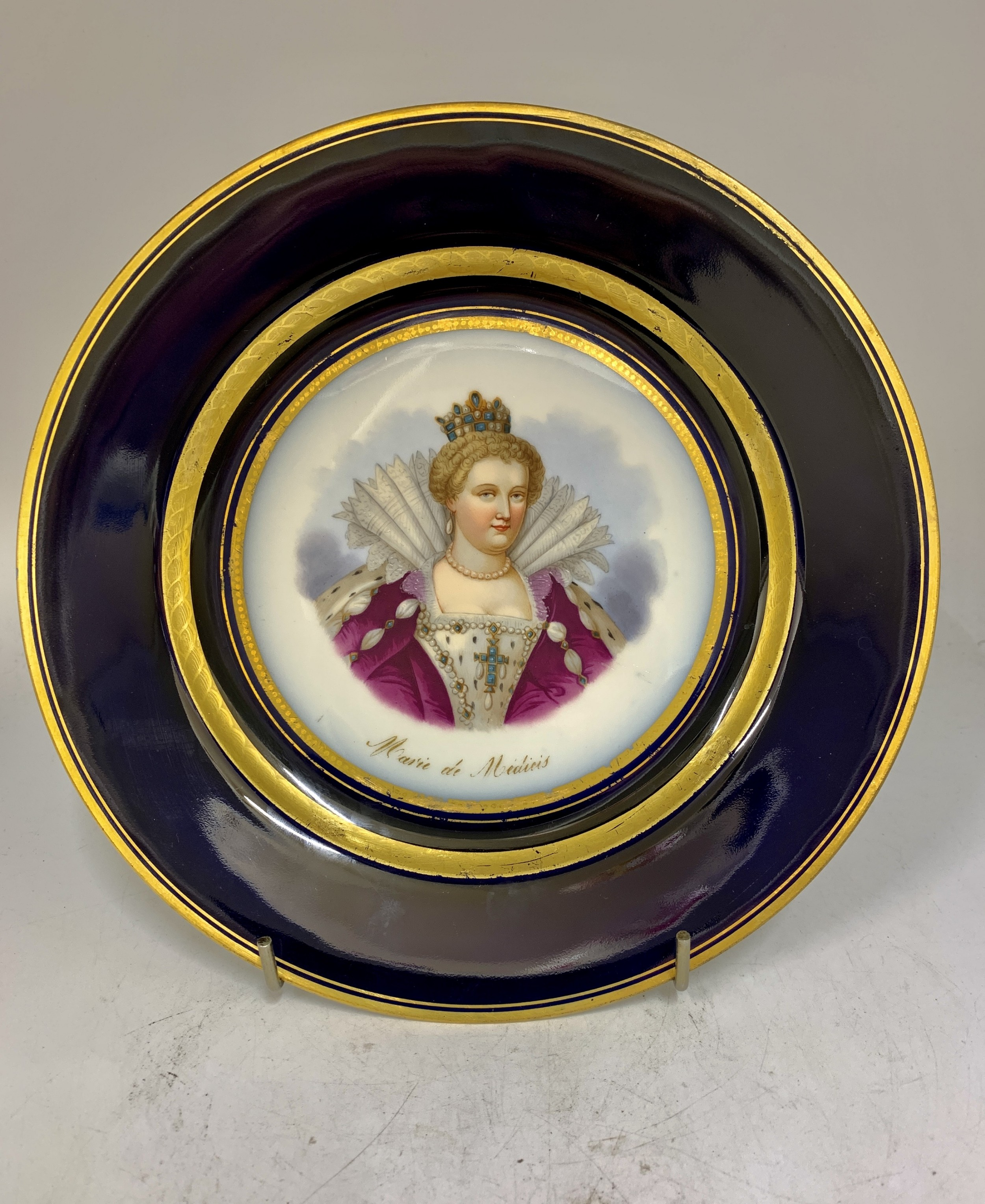 19 th century french porcelain sevres design cabinet plate circa 1850