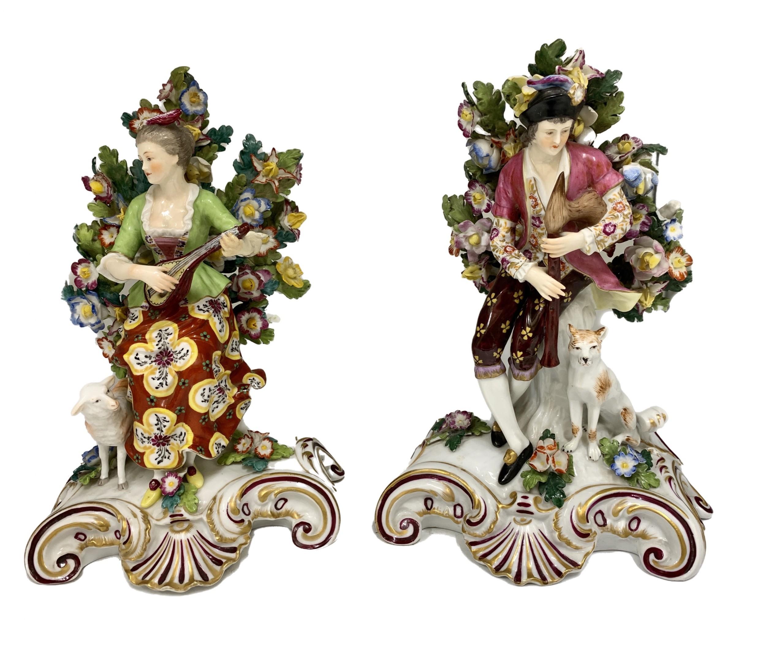 antique pair samson porcelain figural groups circa 1870