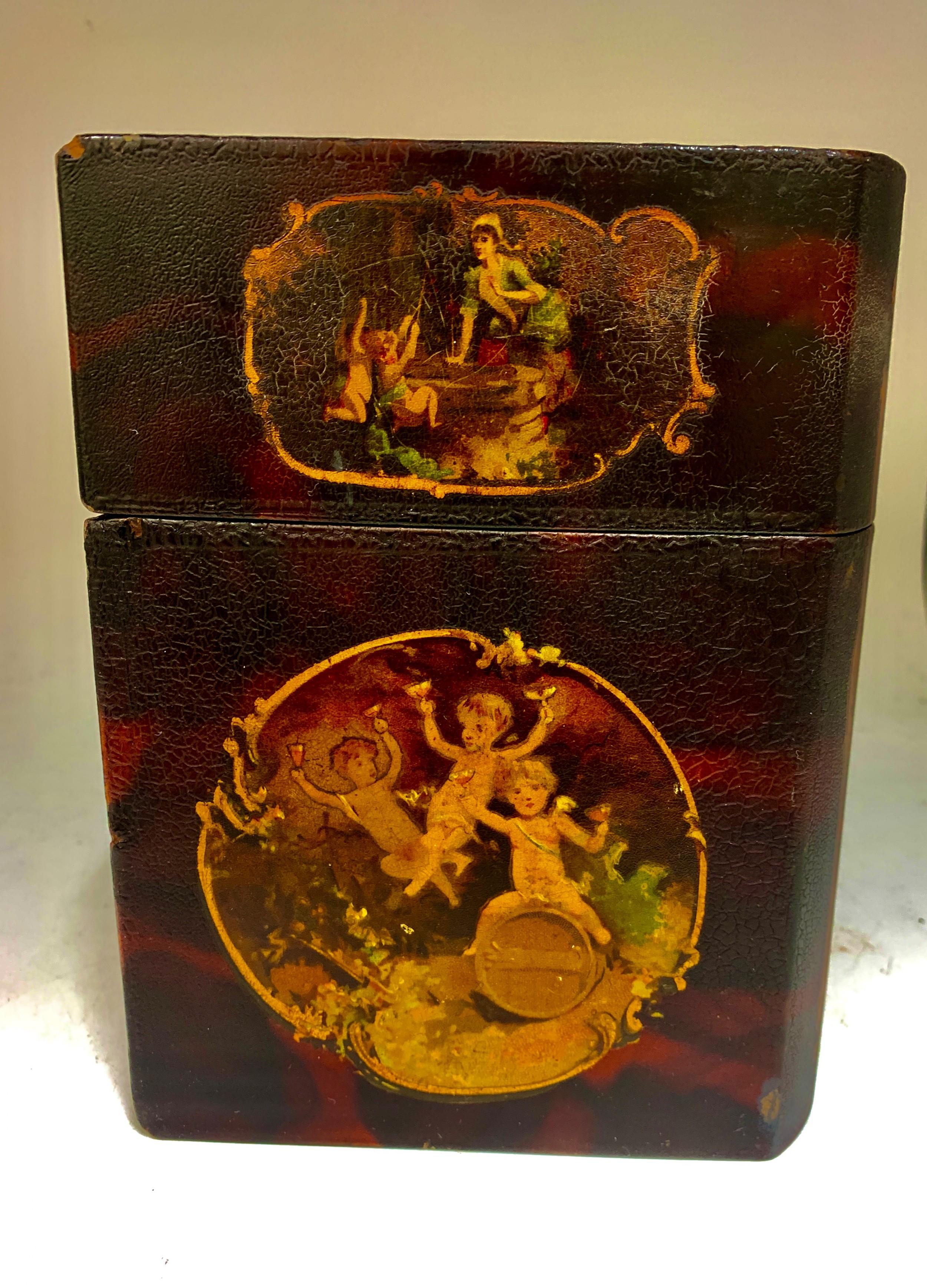 antique papier mache book box circa 1830