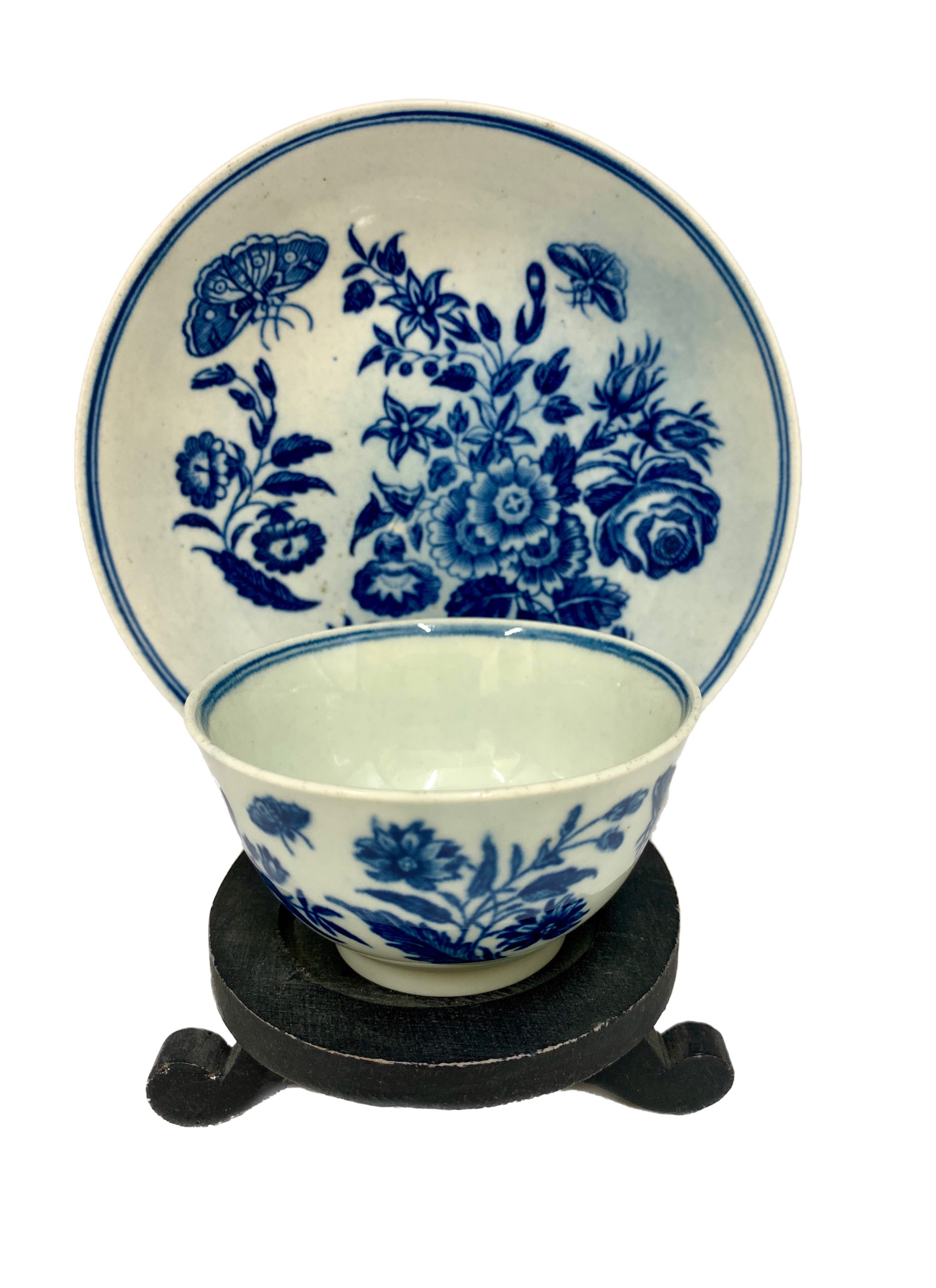 georgian first period worcester porcelain tea bowl saucer circa 175590
