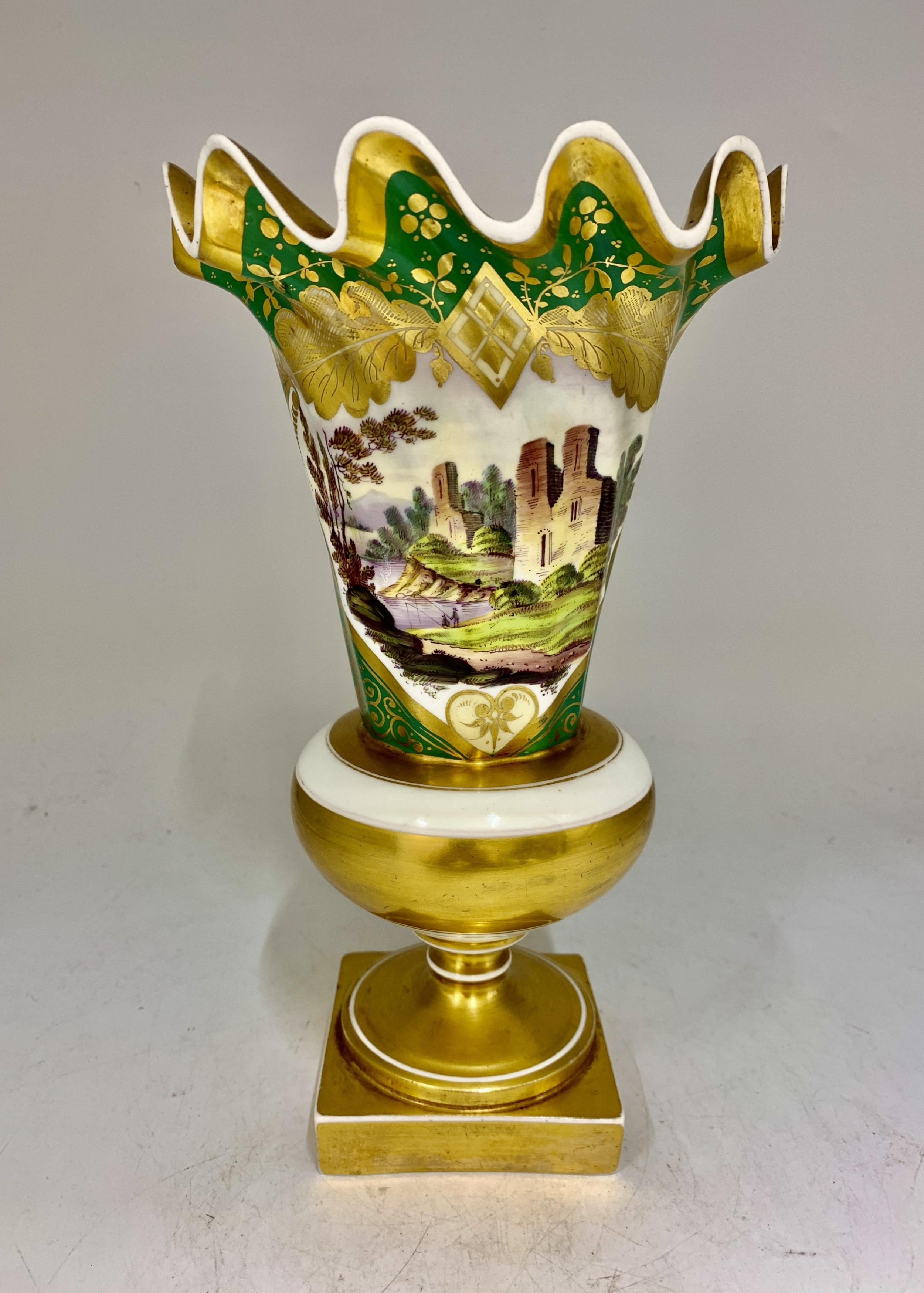 antique english porcelain campagna vase circa 1820