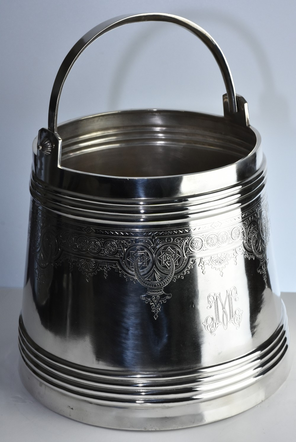 exceptional quality early 20th century monumental russian silver vodka ice pail
