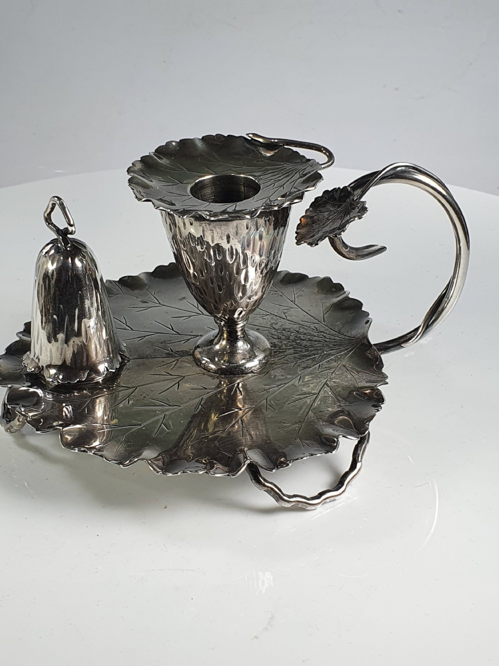 rare late 19th20th century superb hukin heath silver plated chamberstick