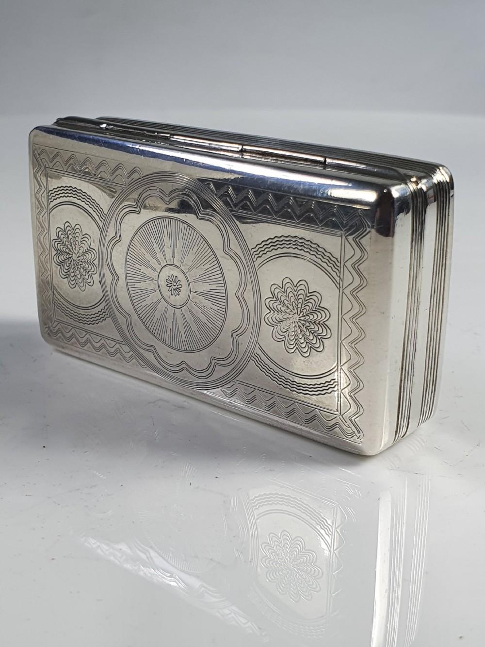 superb quality dutch silver large snuff box c1836