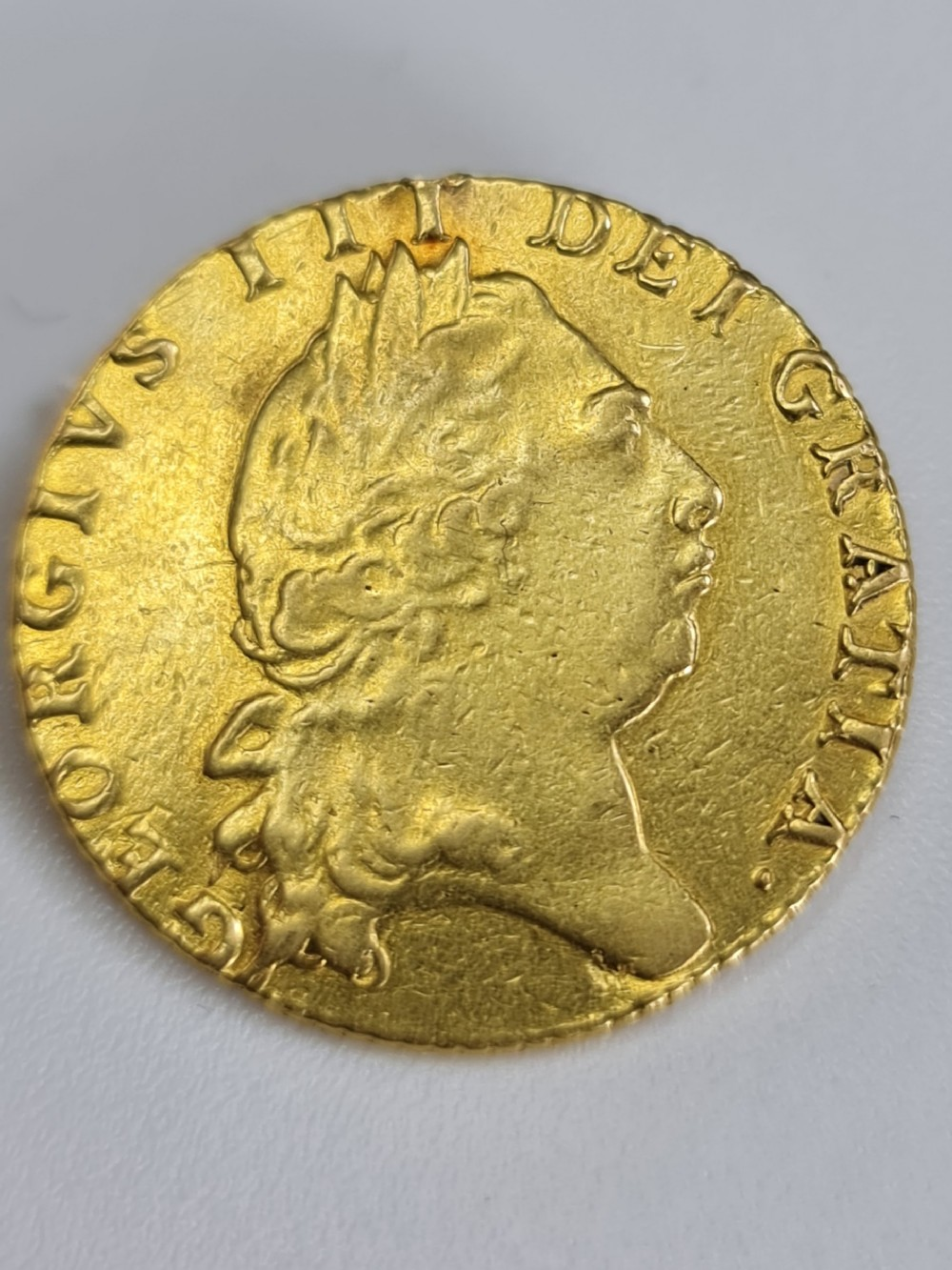 attractive george iii 22ct gold guinea c1797