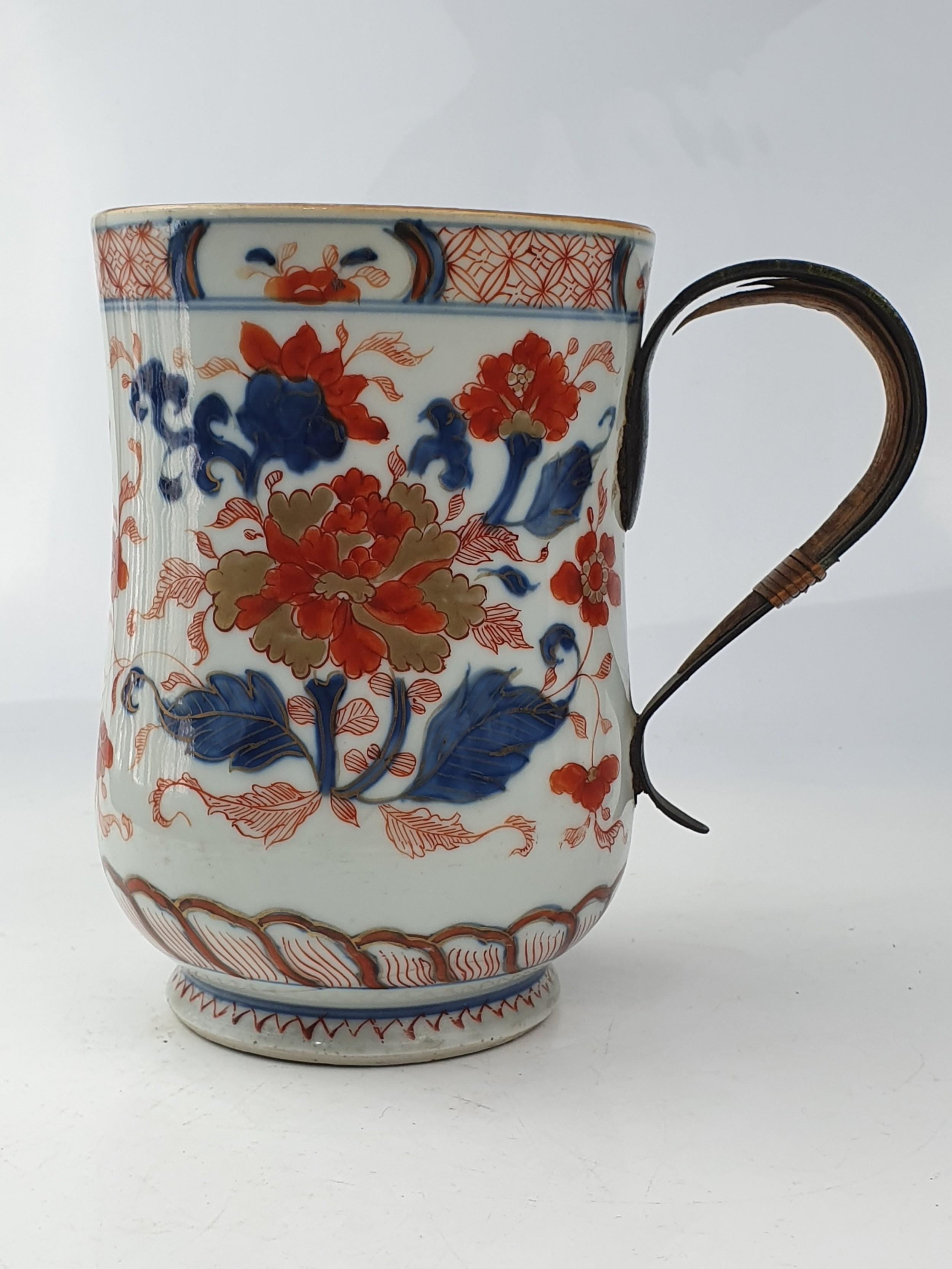 large chinese imari tankard 18th century