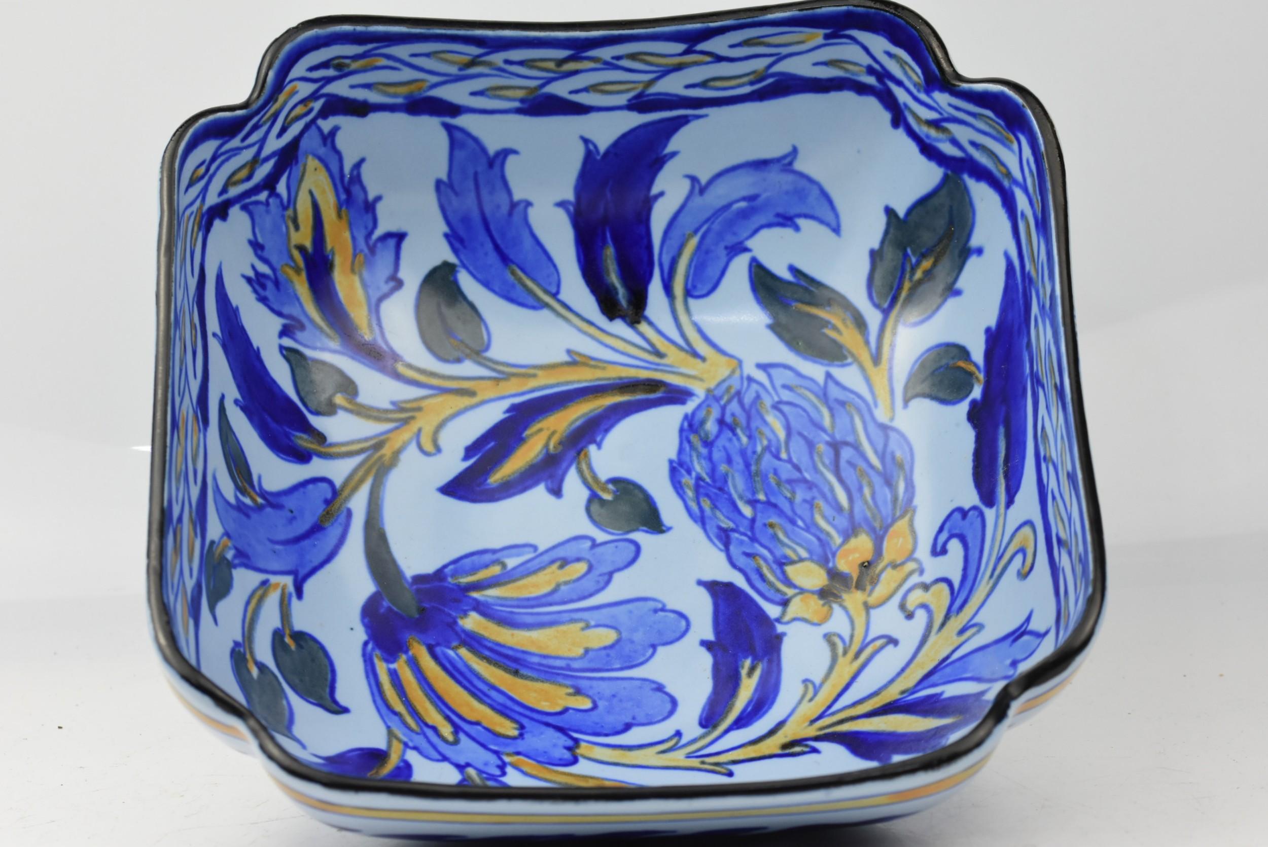 large royal cauldon art deco square bowl c1930