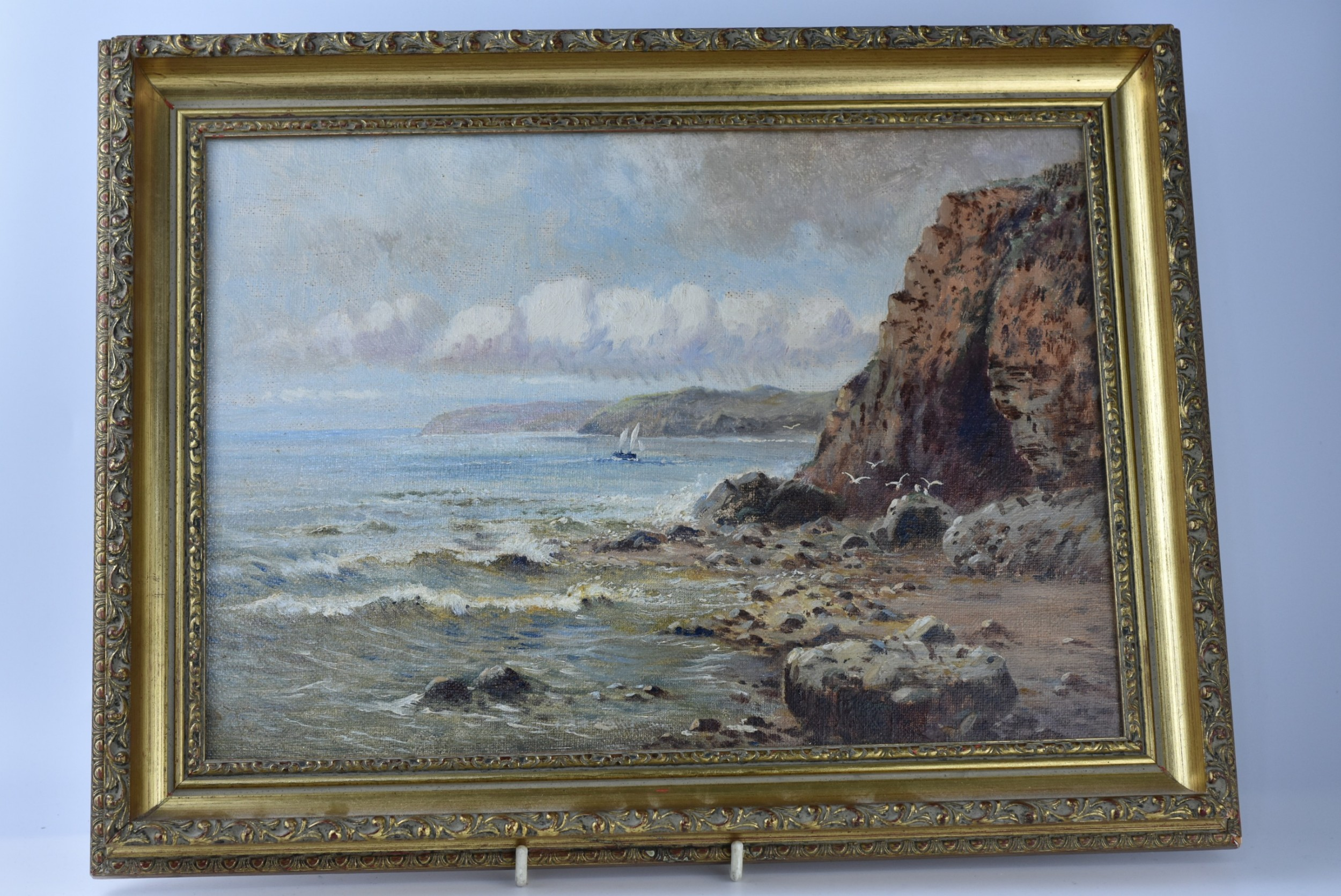 fine quality seascape oil on canvas c1900