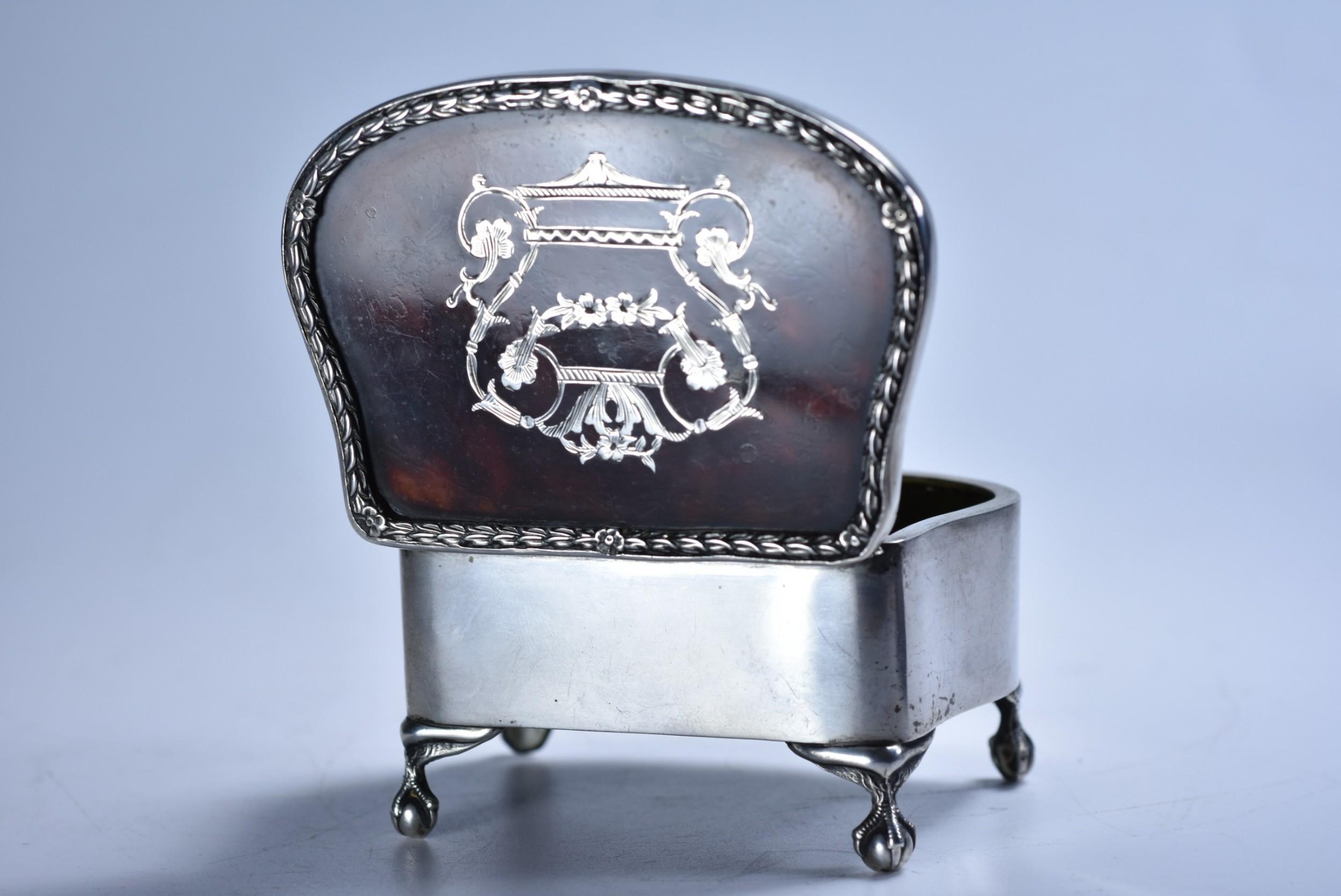edwardian sterling silver tortoiseshell trinket box by levi salaman c1906