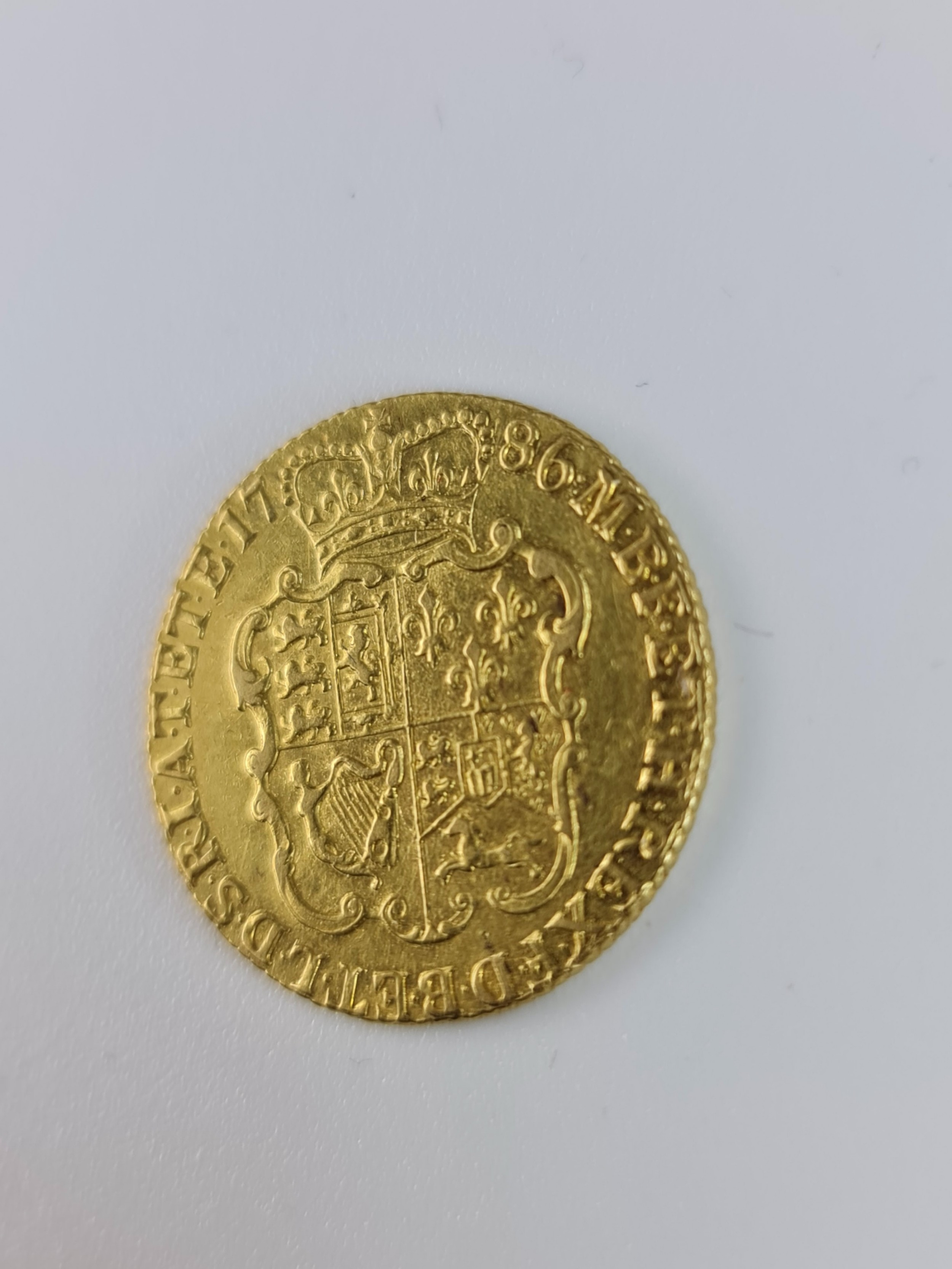beautiful quality 22ct 1786 gold guinea