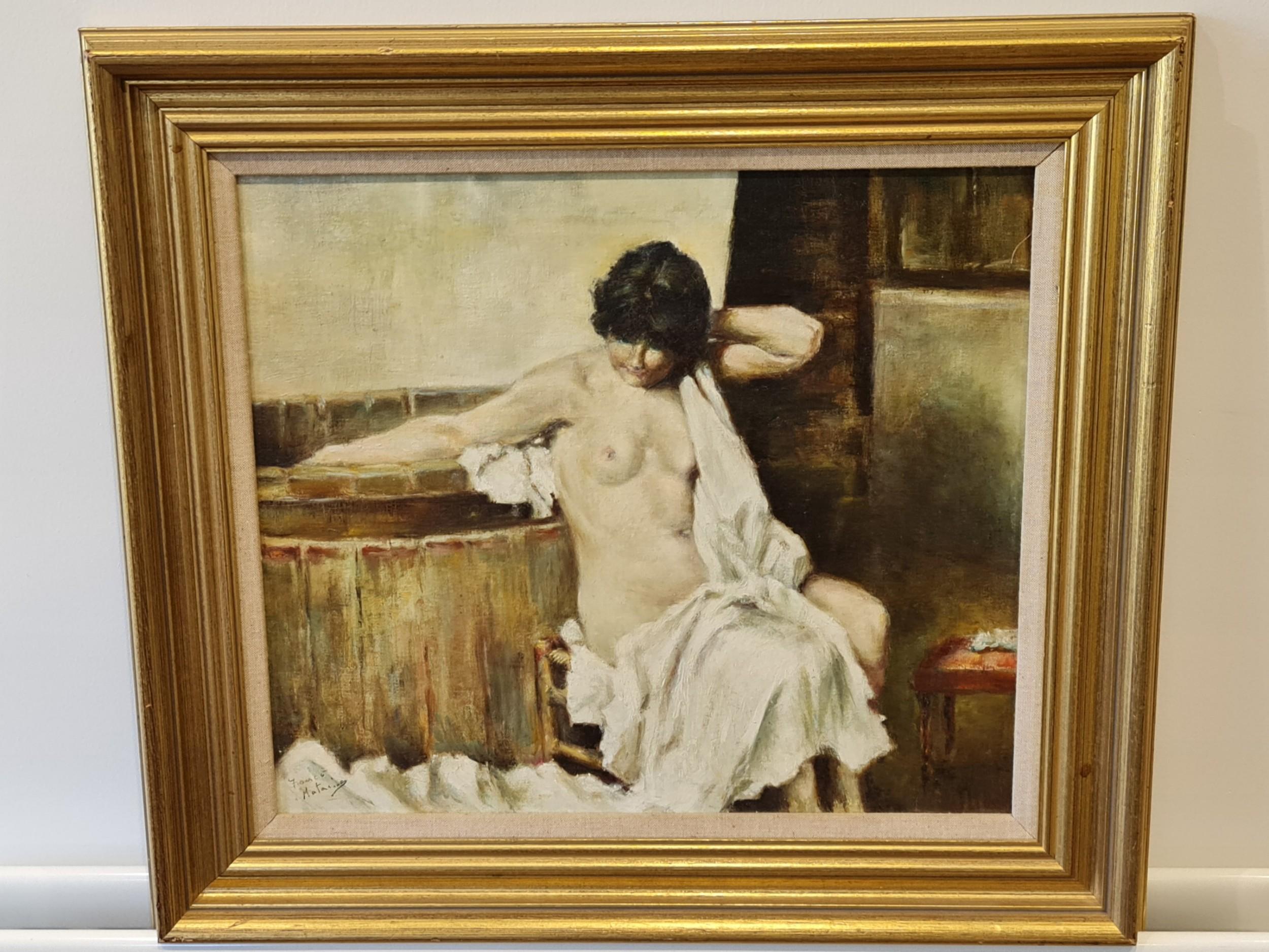 franco matania nude 19222006 italianbritish oil on canvas