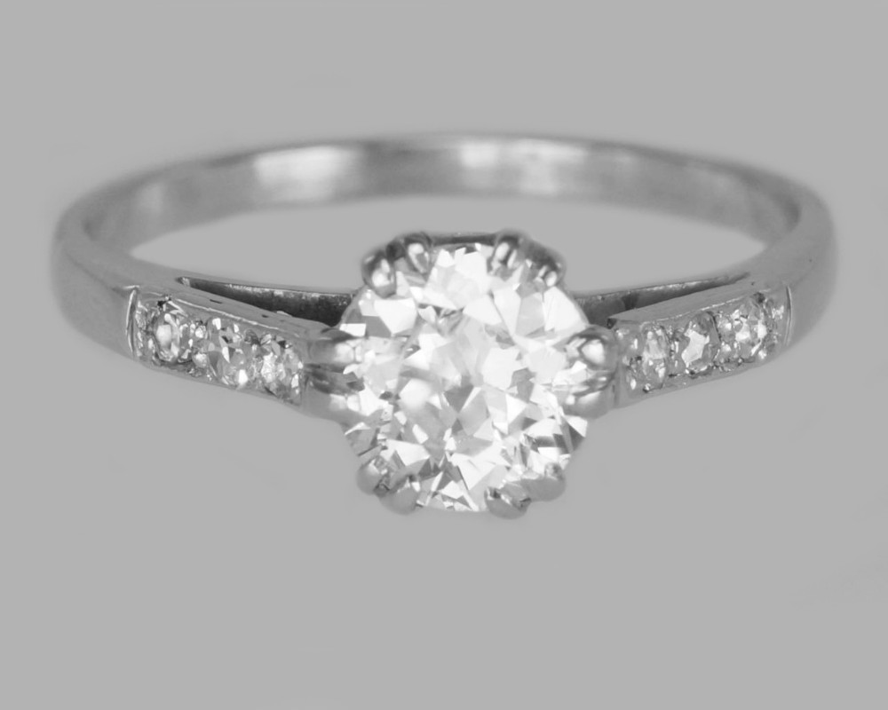 antique 18ct gold solitaire 080ct old cut diamond vintage engagement ring circa 1910