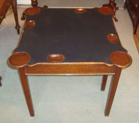 victorian mahogany shaped top card table - photo angle #2