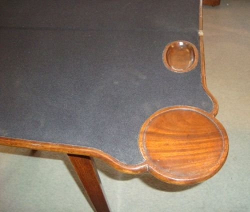 victorian mahogany shaped top card table - photo angle #3