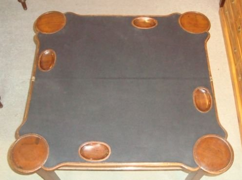 victorian mahogany shaped top card table - photo angle #4