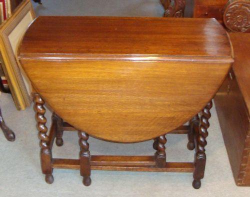 edwardian solid and golden oak dropleaf gateleg table