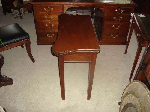 victorian mahogany shaped top card table - photo angle #5