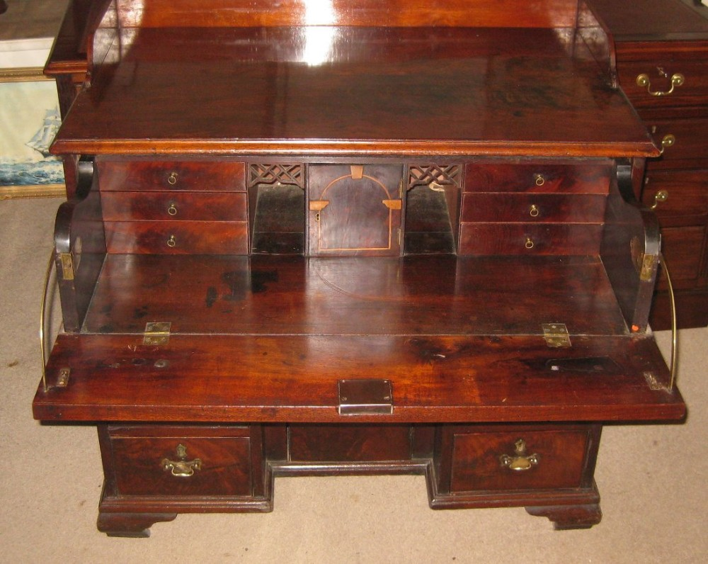 early georgian mahogany secretaire chest of drawers