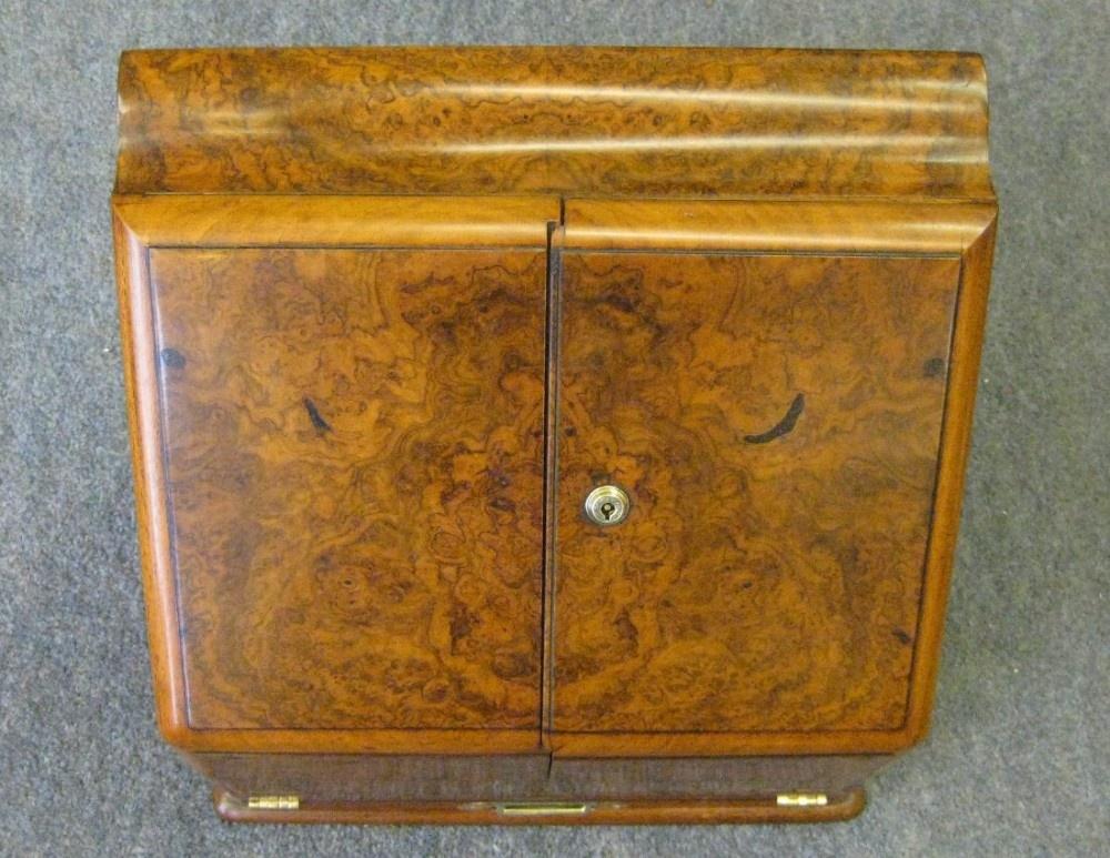 a superb victorian walnut stationery cabinet