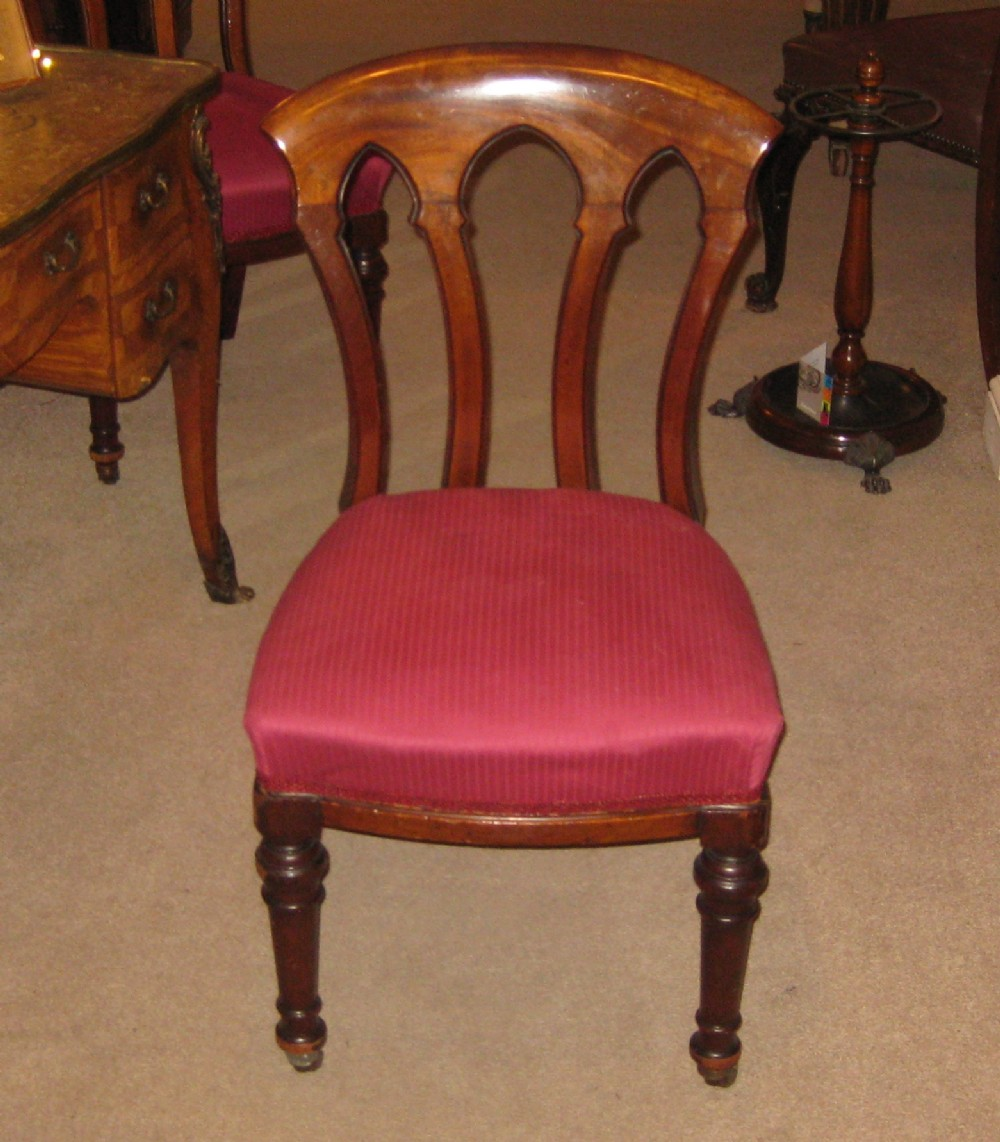set of six fine quality victorian dining chairs