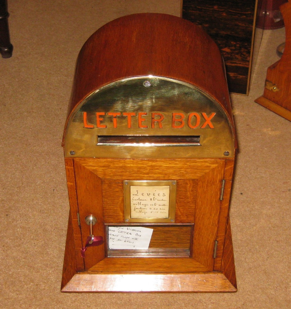 a superb victorian in house letter box