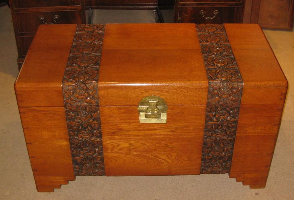 solid golden mahogany and camphorwood trunk