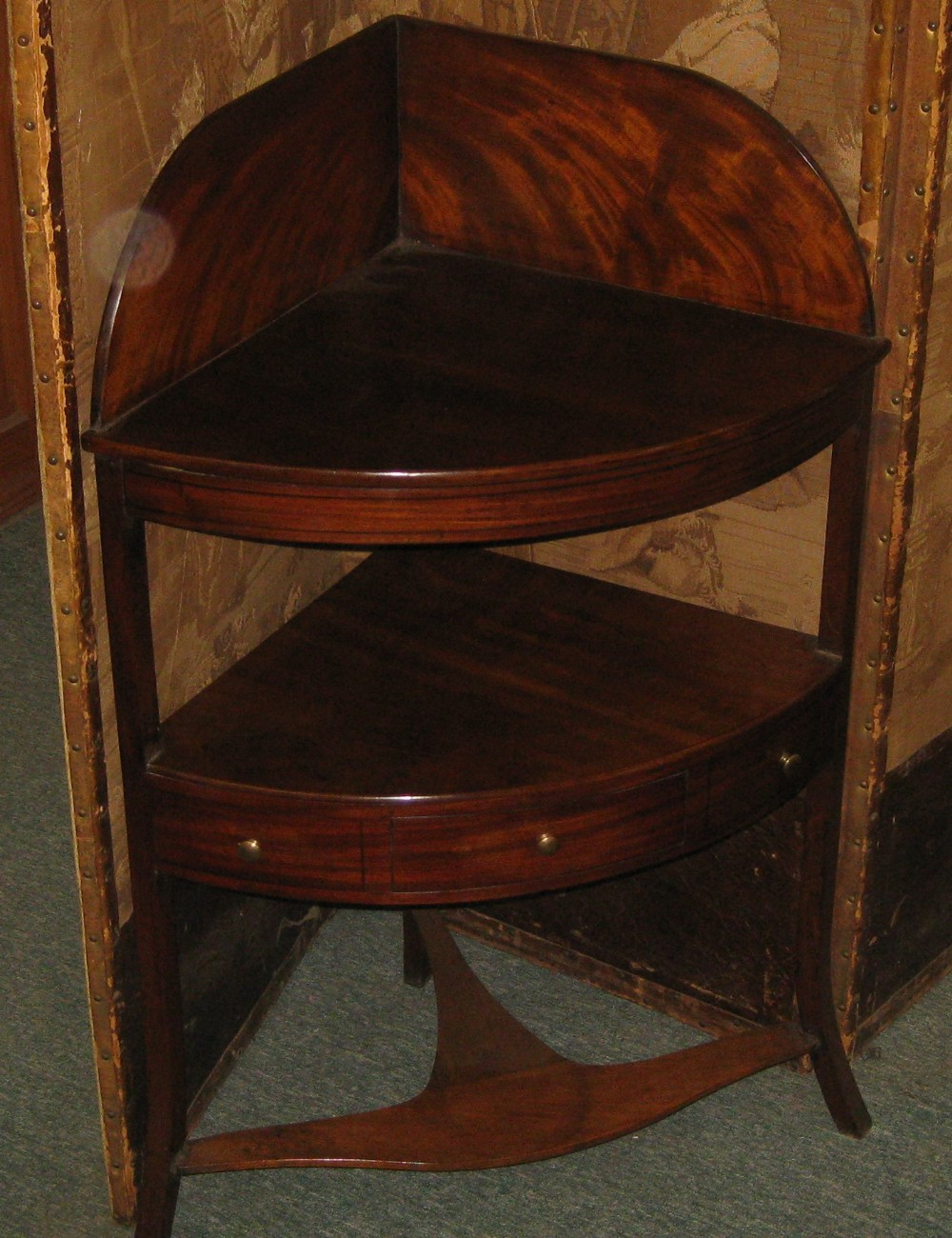 early victorian mahogany corner table washstand