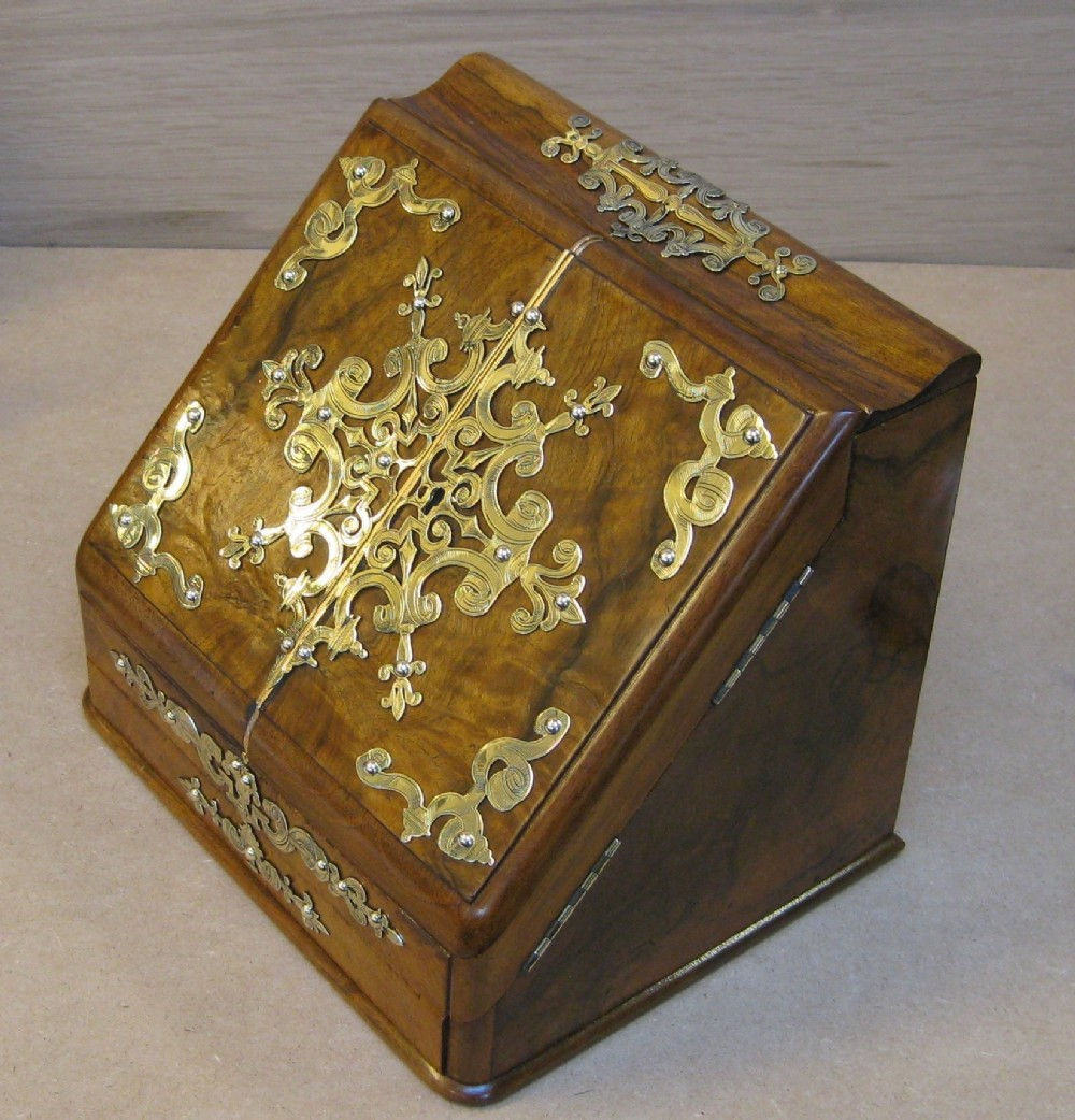 a fine circa 18901900 walnut stationery cabinet