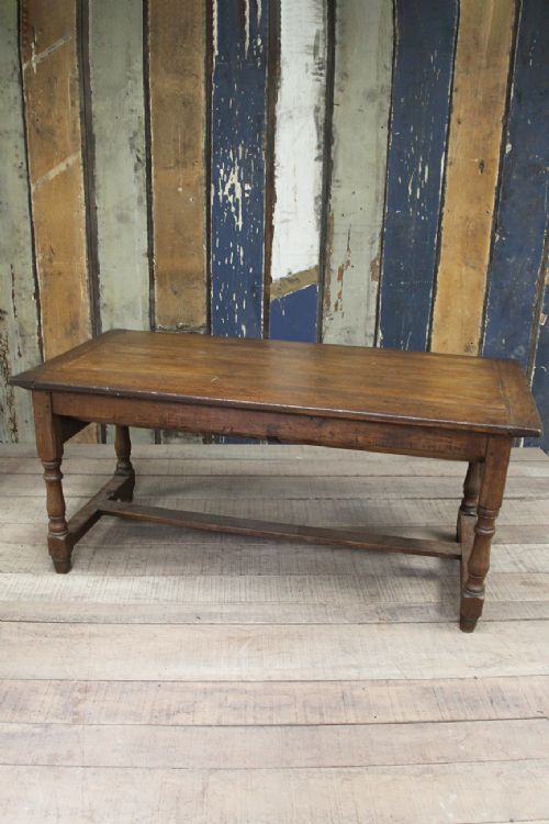 19th century oak dining table with storage