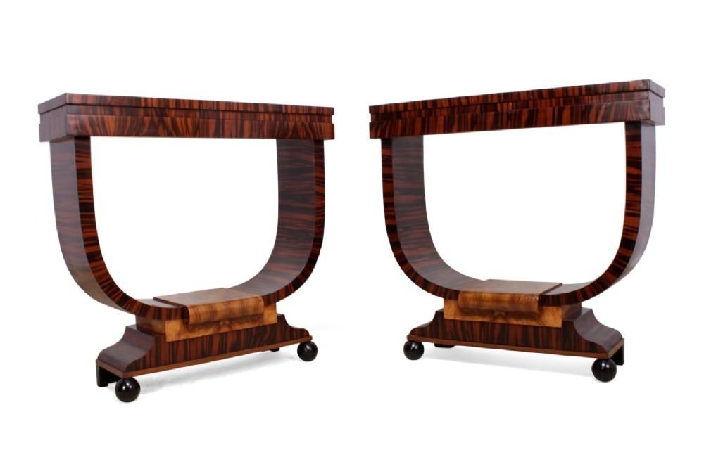 pair of italian art deco console tables c1930
